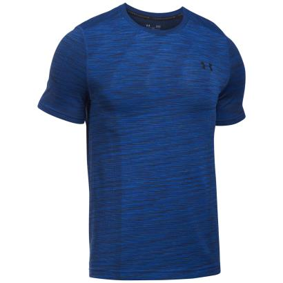 Under Armour Threadborne Seamless Compression Tee S/S Blue - Front