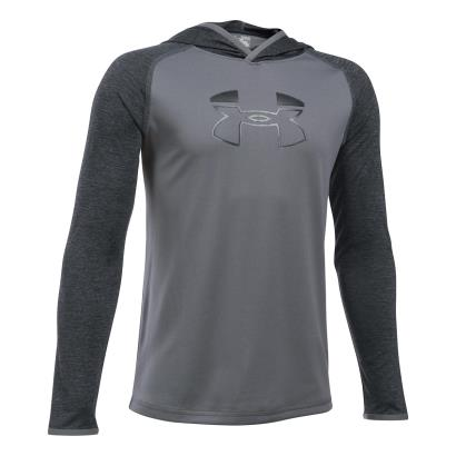 Under Armour Tech Block Hoody Graphite Kids - Front