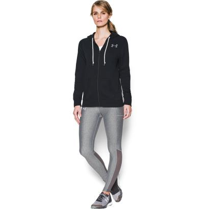 Under Armour Ladies Favourite Fleece Full Zip Hoody Black - Model