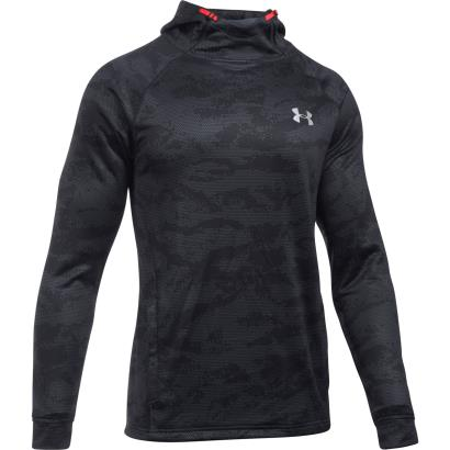 Under Armour Tech Terry Fitted Hoody Black - Front
