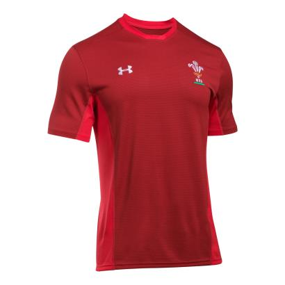 Wales Training Tee Daredevil Red 2018 - Front
