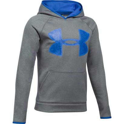 Under Armour AF Big Logo Hoodie Graphite Kids - Front