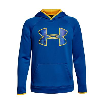 Under Armour AF Big Logo Hoodie Royal Kids - Front