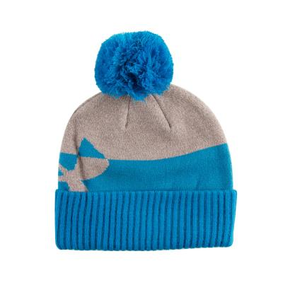 Under Armour Pom Beanie Cruise Blue Kids - Front
