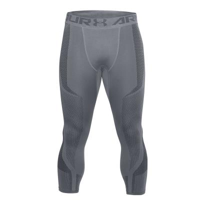Under Armour Threadborne Seamless 3/4 Compression Leggings Grey - Front