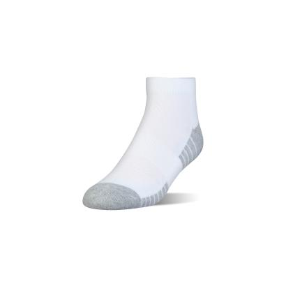 Under Armour 3 Pack of Heatgear Tech Lo Cut Socks White - Front