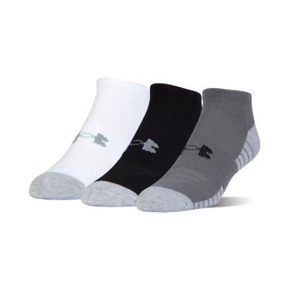 Under Armour 3 Pack of Heatgear Tech No Show Socks Graphite - Front