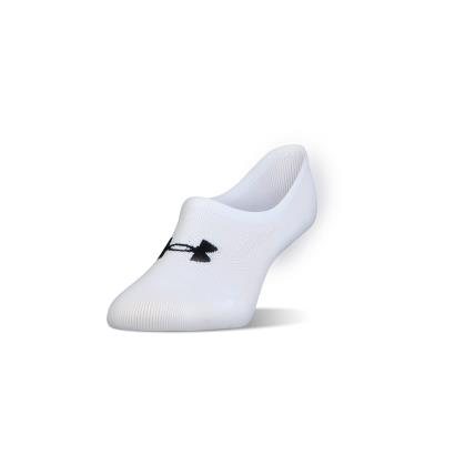 Under Armour Ladies Essential Ultra Low Liner Socks White - Front