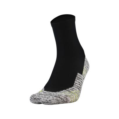 Under Armour Ladies Charged Cushion Quarter Socks Black - Front