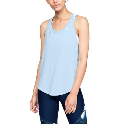 Under Armour Ladies Heatgear Mesh Back Tank Halogen Blue - Model 1