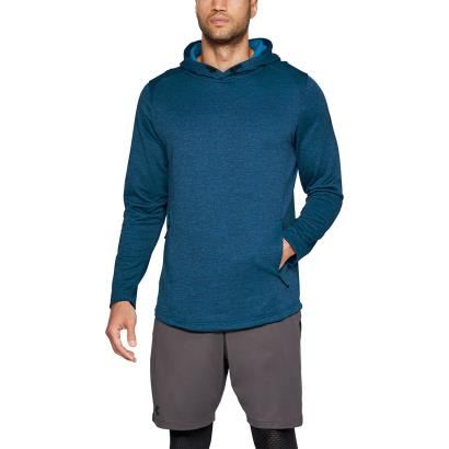 Under Armour Tech Terry Pullover Hoodie Moroccan Blue - Model 1