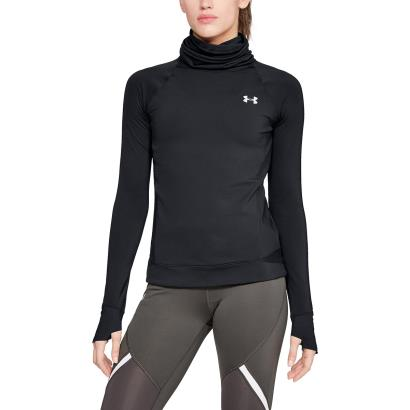 Under Armour Womens Coldgear Reactor Run Funnel Neck Black - Model 1