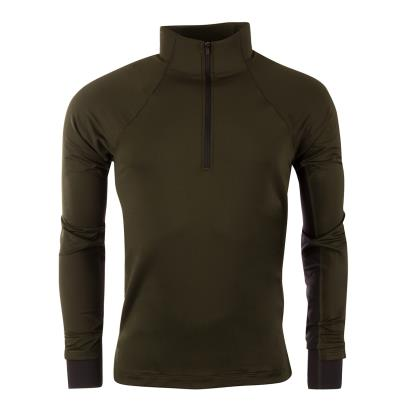 Under Armour Coldgear Run 1/2 Zip Top Artillery Green - Front