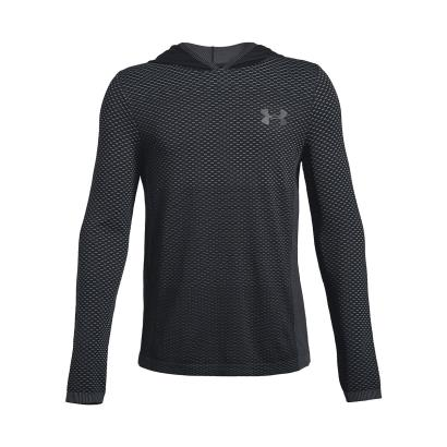 Under Armour Seamless Hoodie Black Kids - Front