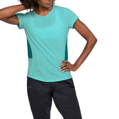 Under Armour Ladies Threadborne Swyft Tee Tropical Tide - Model 1