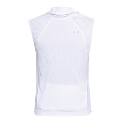 Under Armour Threadborne Swyft Sleeveless Hoodie White - Front