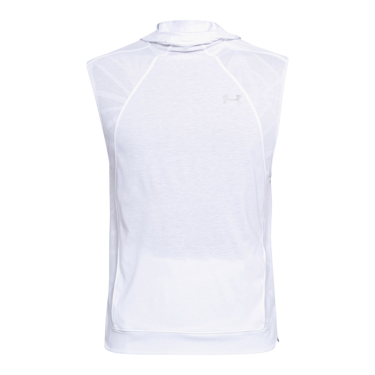 0a724b31d62eb3 Under Armour Threadborne Swyft Sleeveless Hoodie White - Front