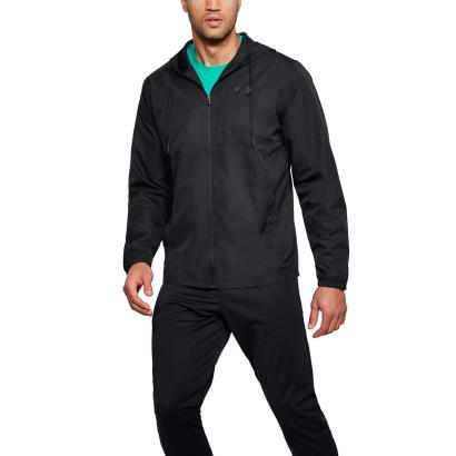 Under Armour Sportstyle Woven Full Zip Hoodie Black - Model 1