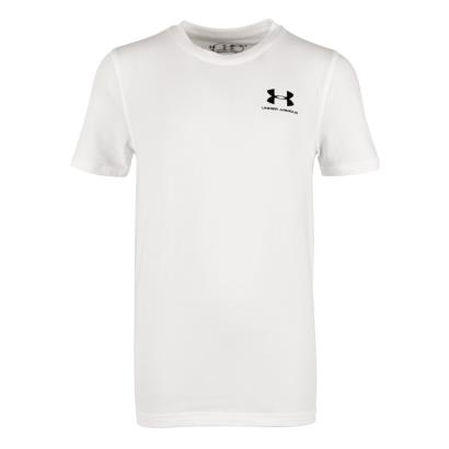 Under Armour Charged Cotton Tee White Kids - Front
