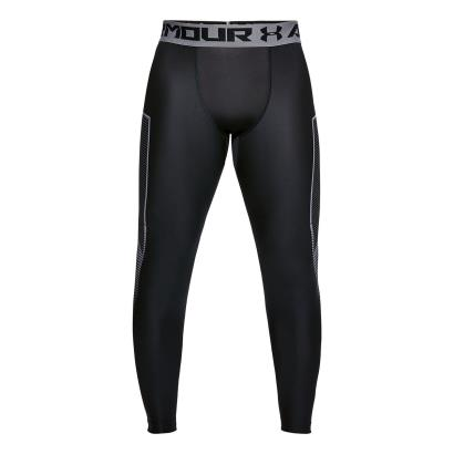 Under Armour Heatgear Graphic Compression Leggings Black - Front