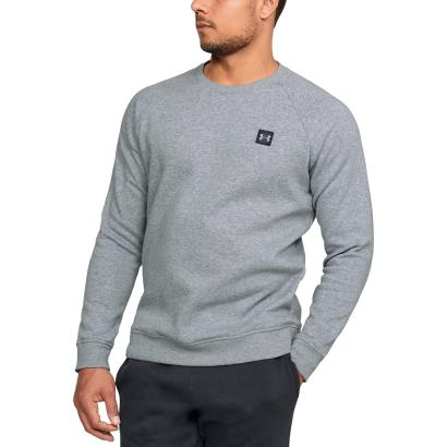 Under Armour Rival Fleece Crew Neck Sweatshirt Steel - Front 1