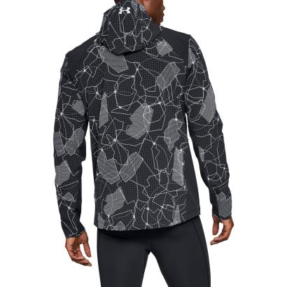 Mens Black Under Armour Outrun The Storm Jacket Rugbystore