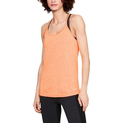 Under Armour Ladies Threadborne Seamless Spacedye Tank Peach - Model 1
