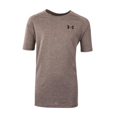 Under Armour Tech Tee Charcoal Light Heather Kids - Front