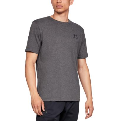 Under Armour Sportstyle Logo Tee Charcoal Medium Heather - Model 1