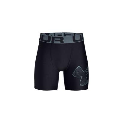 Under Armour Heatgear Fitted Shorts Black Kids - Front