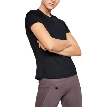 Under Armour Womens Rush Tee Black - Model 1