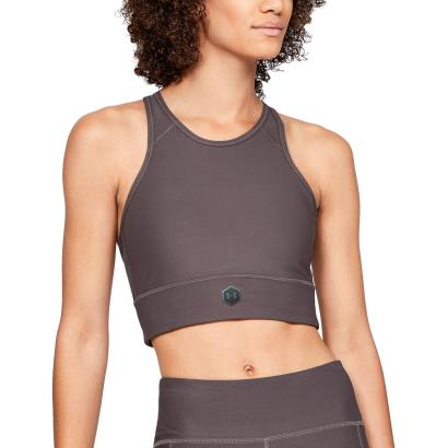 Under Armour Rush Sports Bra Ash Taupe - Model 1