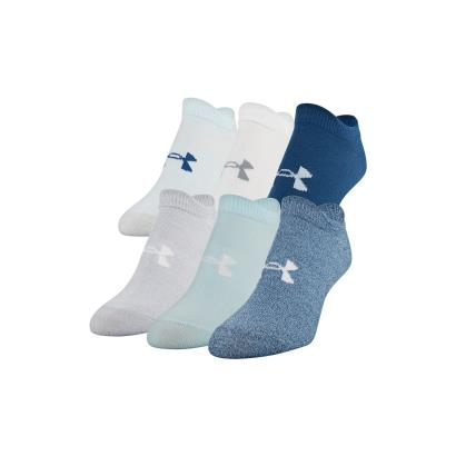 Under Armour Womens Essential Trainer Socks Petrol Blue - Front