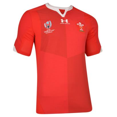 Rugby World Cup 2019 Wales Authentic Home Rugby Shirt S/S front