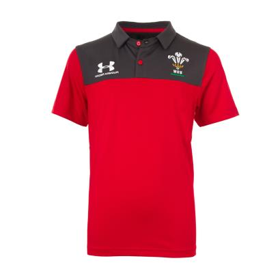 Wales Polo Red Kids 2020 - Front