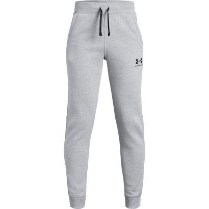 Under Armour Cotton Fleece Joggers Steel Kids - Front