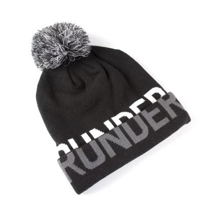 Under Armour Womens Graphic Pom Beanie Black front