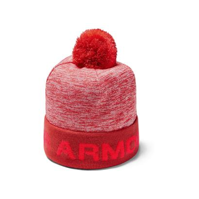 Under Armour Gametime Pom Beanie Martian Red Kids - Side 1