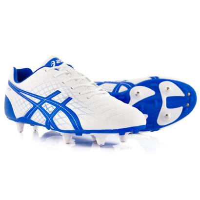 Asics Jet ST Rugby Boots White - Front 1