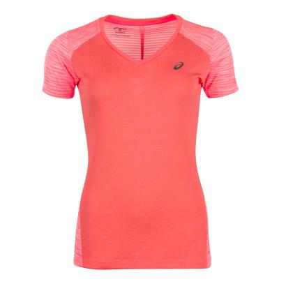 Asics Womens FuzeX Tee Pink - Front