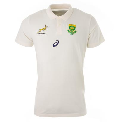 Rugby World Cup 2019 South Africa Media Polo Sweet Corn - Front
