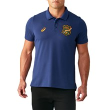 South Africa Pique Polo Indigo Blue 2020 - Front