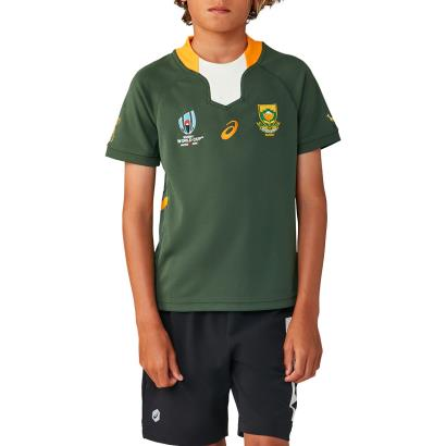 Rugby World Cup 2019 South Africa Home Rugby Shirt S/S Kids - Front