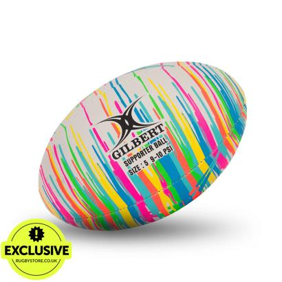 Gilbert Rainbow Paint Randoms Training Rugby Ball - Front