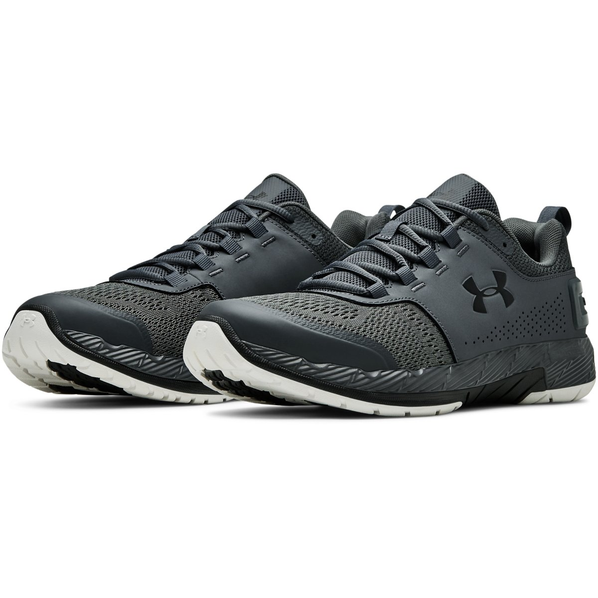 newest b0db2 519cf Mens Pitch Grey Under Armour Commit TR EX Trainers