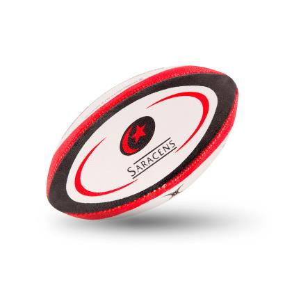 Gilbert Saracens Mini Rugby Ball - Front