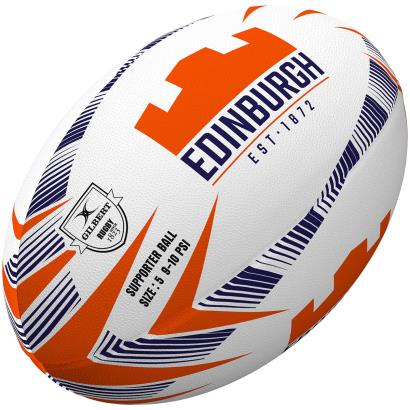 Gilbert Edinburgh Supporters Rugby Ball - Front