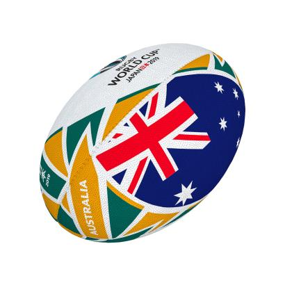 Gilbert Rugby World Cup 2019 Australia Flag Mini Rugby Ball - Front