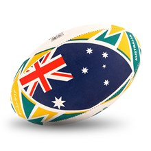 Gilbert Rugby World Cup 2019 Australia Flag Rugby Ball - Front