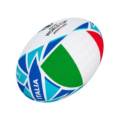 Gilbert Rugby World Cup 2019 Italy Flag Mini Rugby Ball - Front
